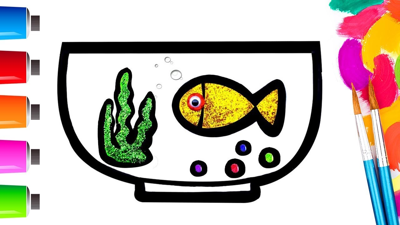 1280x720 Learn Colors Fish And Aquarium Diy How To Drawing Coloring