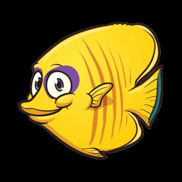 363x363 Printed Vinyl Cartoon Aquarium Fish Stickers Factory