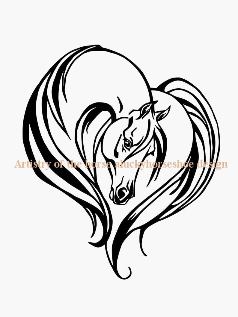 794x1059 horse heart auto decal arabian decal auto decal truck etsy
