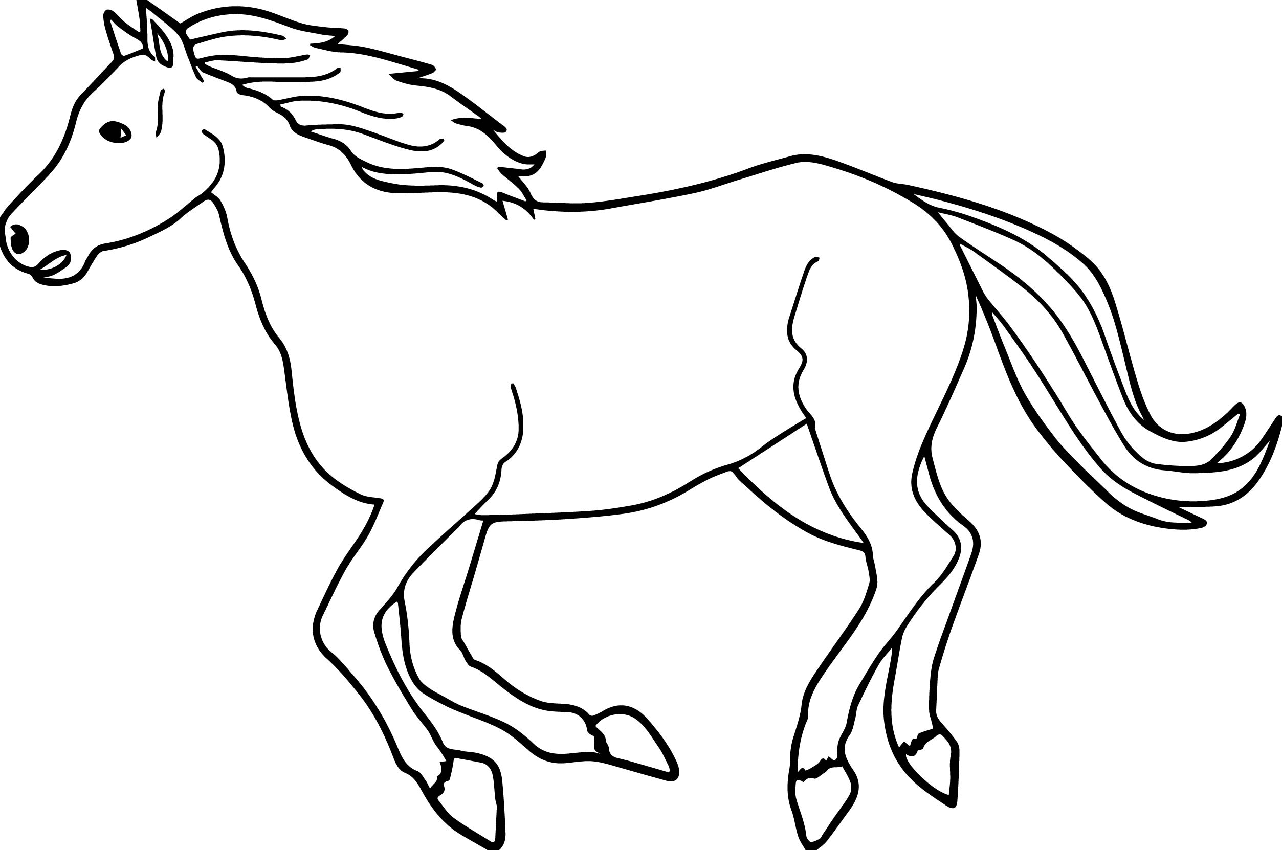 Arabian Horse Drawing | Free download on ClipArtMag