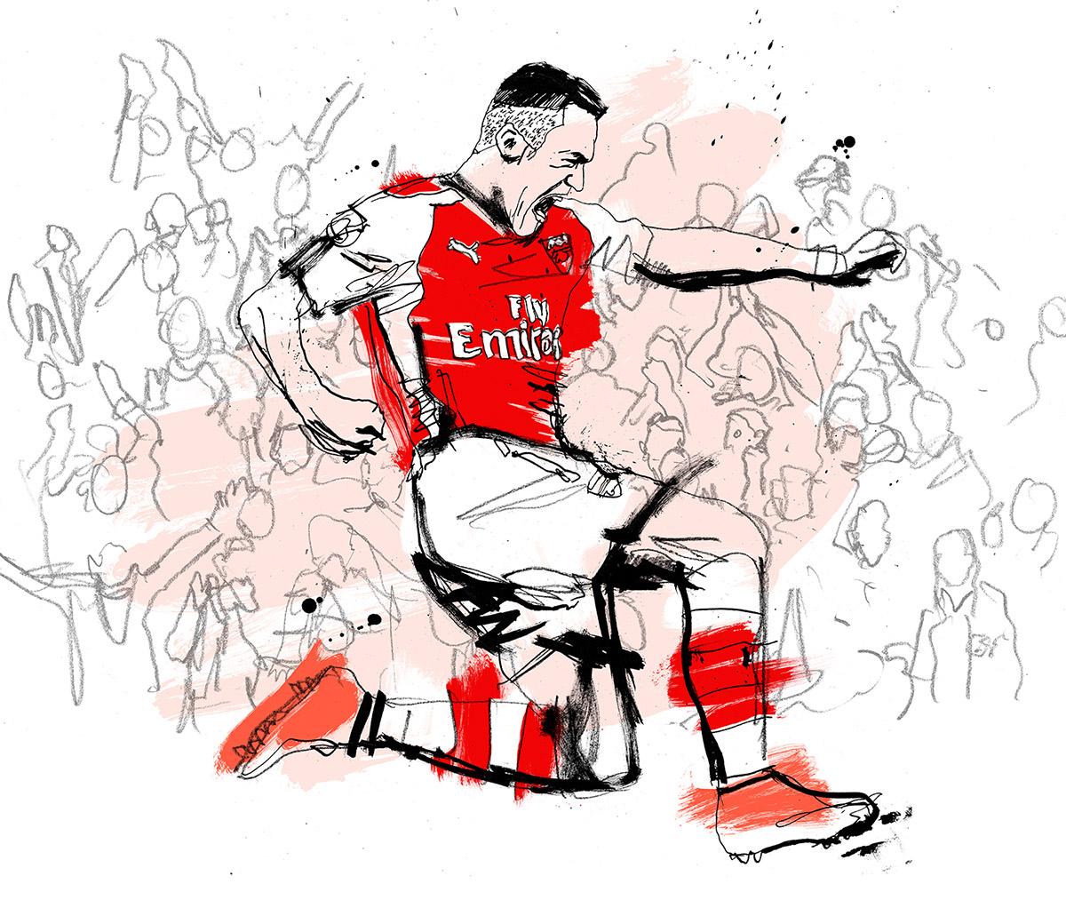 1200x1022 Premier League Tv Promo Animation Arsenal V Spurs On Behance