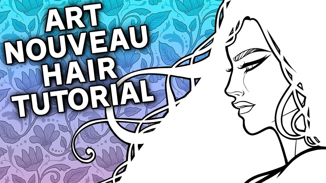 1280x720 How To Draw Ink Art Nouveau Hair Tutorial