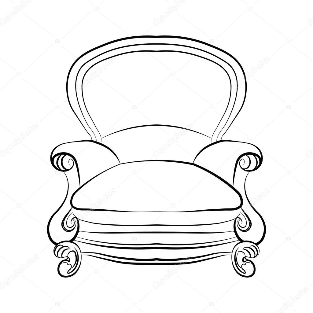 1024x1024 Chair Drawing Deco For Free Download