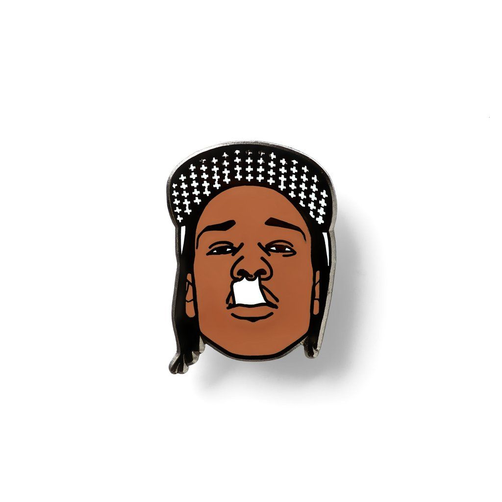 1024x1024 asap rocky lapel pin hip hop lapel pins lapel pins, cool pins