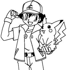Ash And Pikachu Drawing