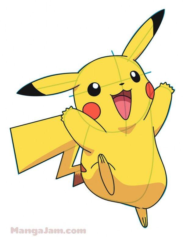 600x777 How To Draw Pikachu