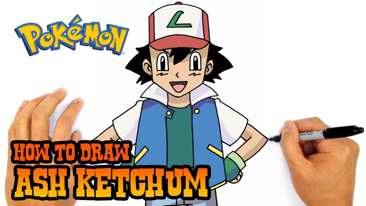 1280x720 How To Draw Ash Ketchum Pokemon