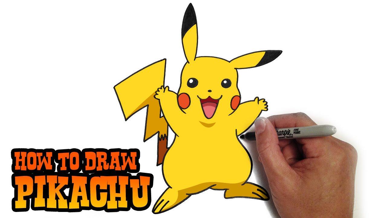 1280x720 How To Draw Pikachu Pokemon