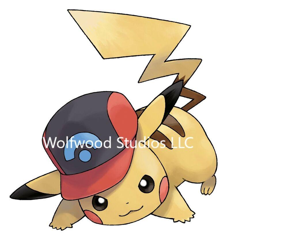 1000x833 Pokemon Cute Pikachu In Ash Ketchums Hat Cartoon Drawing Publicity