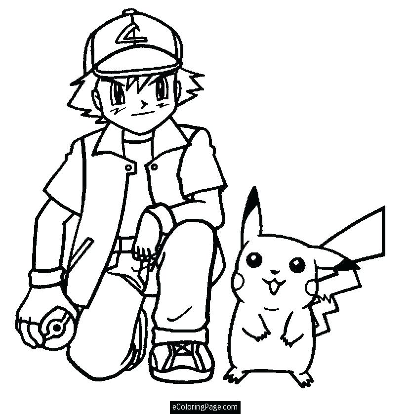 832x838 ash and pikachu coloring pages ash and anime coloring