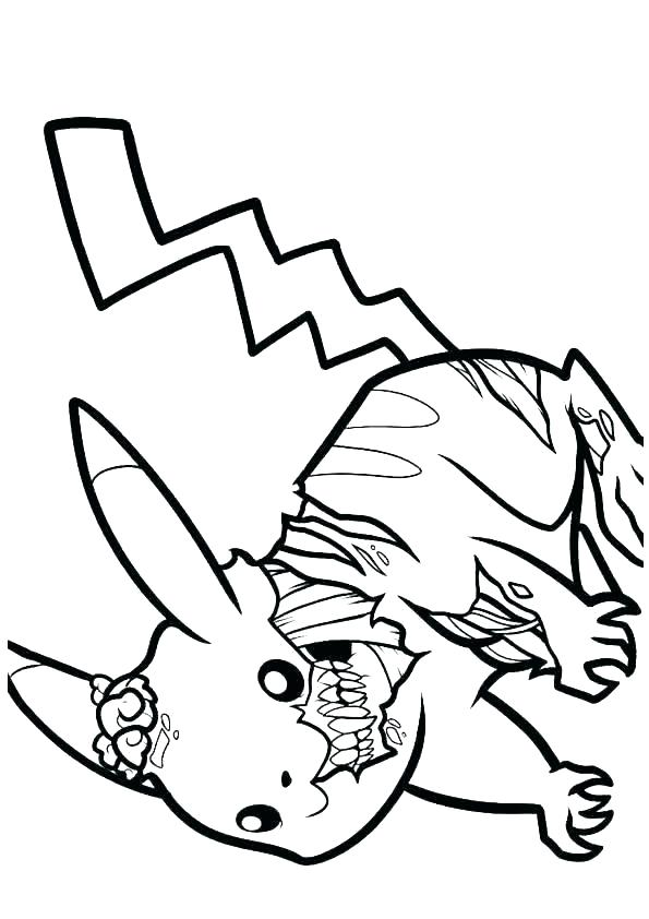 595x842 ash and pikachu coloring pages ash and coloring pages of zombie