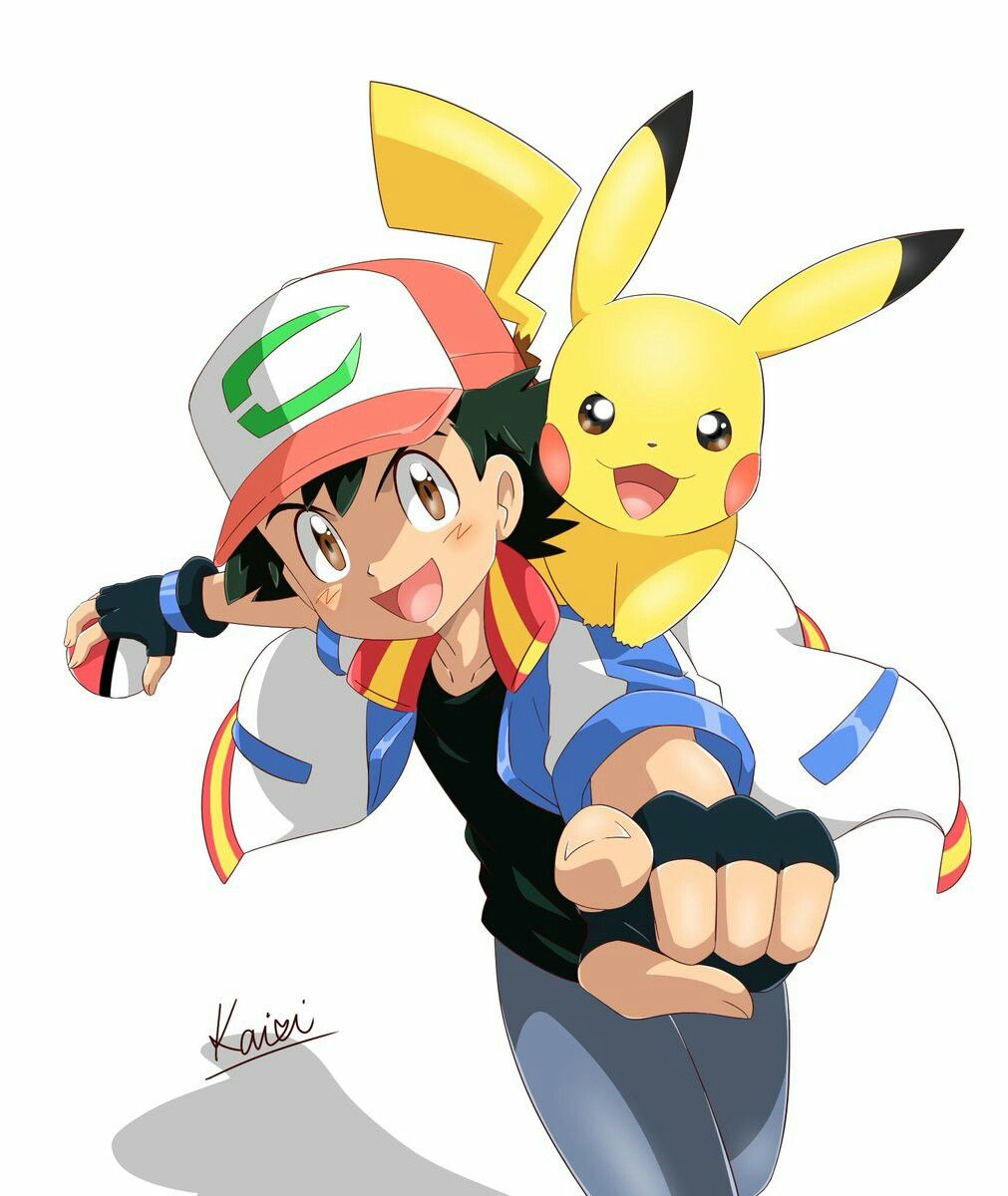 1011x1200 ash and pikachu, the movie never give up ash pokemon