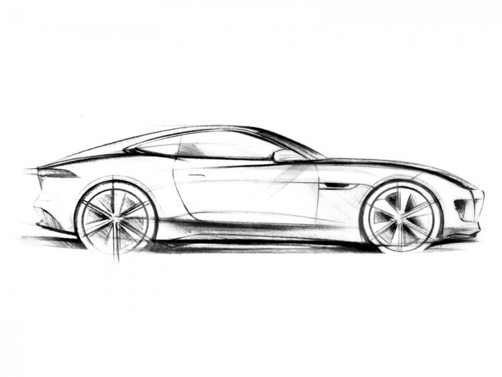 720x540 Jaguar Drawing Side View For Free Download