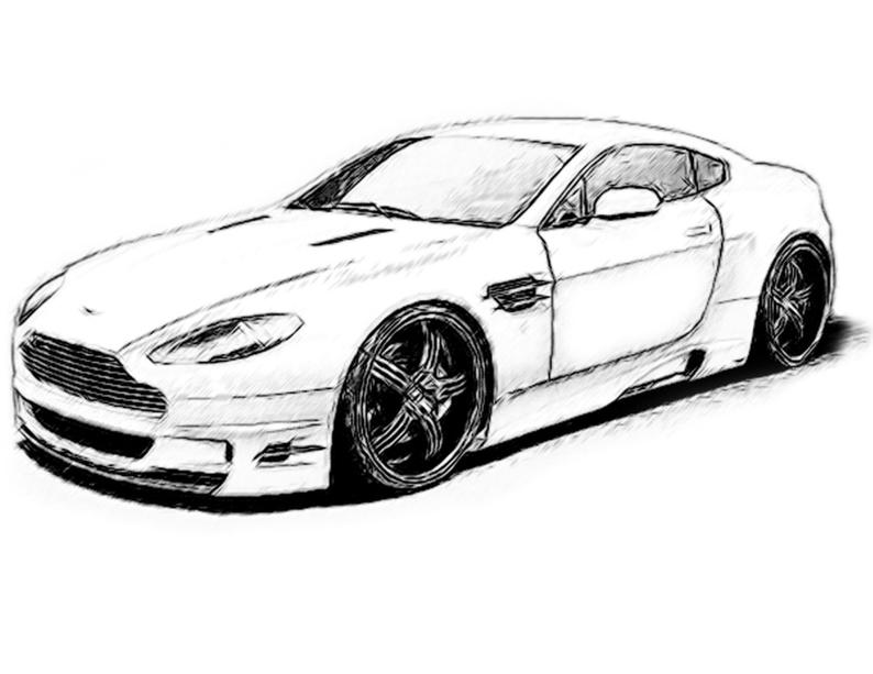 794x613 Aston Martin Drawing T Shirt Etsy