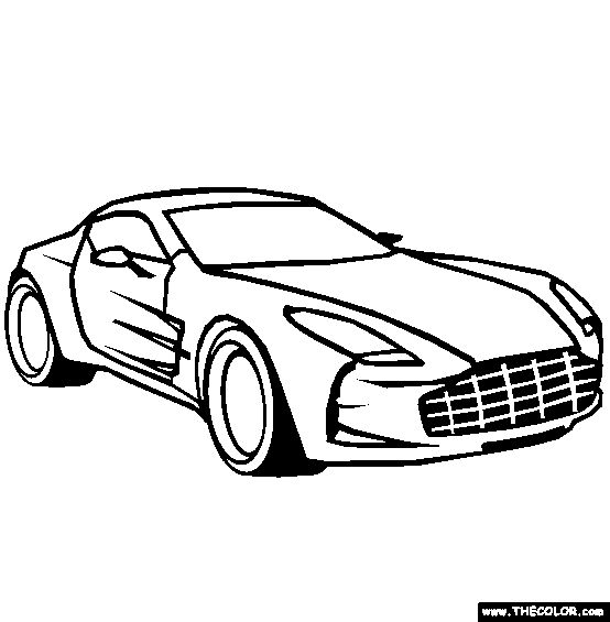 554x565 Aston Martin One Online Coloring