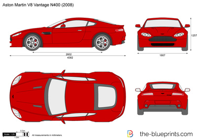 400x283 Aston Martin Vantage Vector Drawing