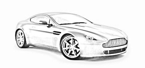 470x221 Car Pencil Drawing Pencil Drawings