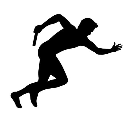 450x419 Illustration Vector Drawing Athlete On Running Royalty Free