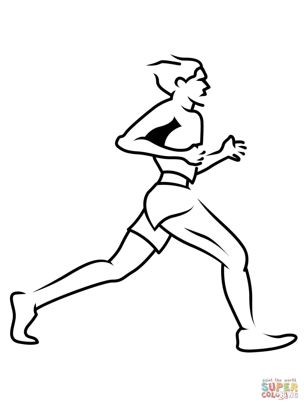 1200x1600 runner drawing athlete runner for free download