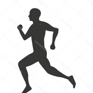 300x300 Stock Vector Vector Drawing Running Athletes Silhouettes On White