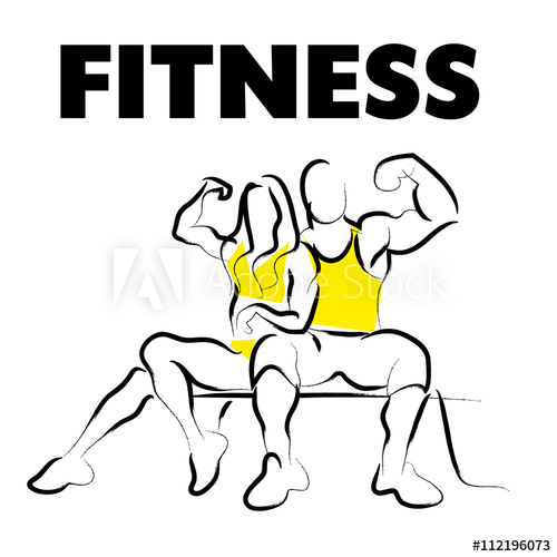 500x500 Vector Hand Drawn Fitness People Sketch Athlete Figure Isolated
