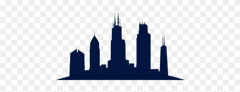 840x323 Chicago Skyline Cityscape Silhouette