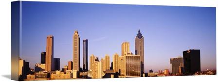 450x170 Stunning Atlanta Skyline Artwork For Sale On Canvas Prints
