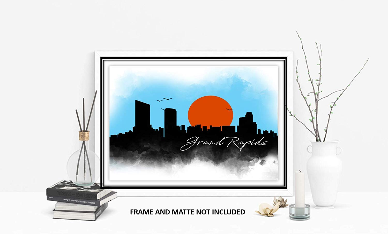 1500x906 Grand Rapids Skyline Drawing