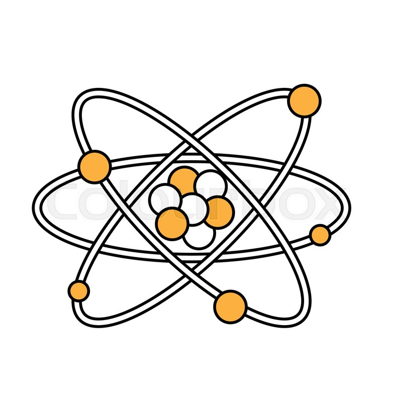 800x800 Atom Icon Chemistry Science And Stock Vector Colourbox