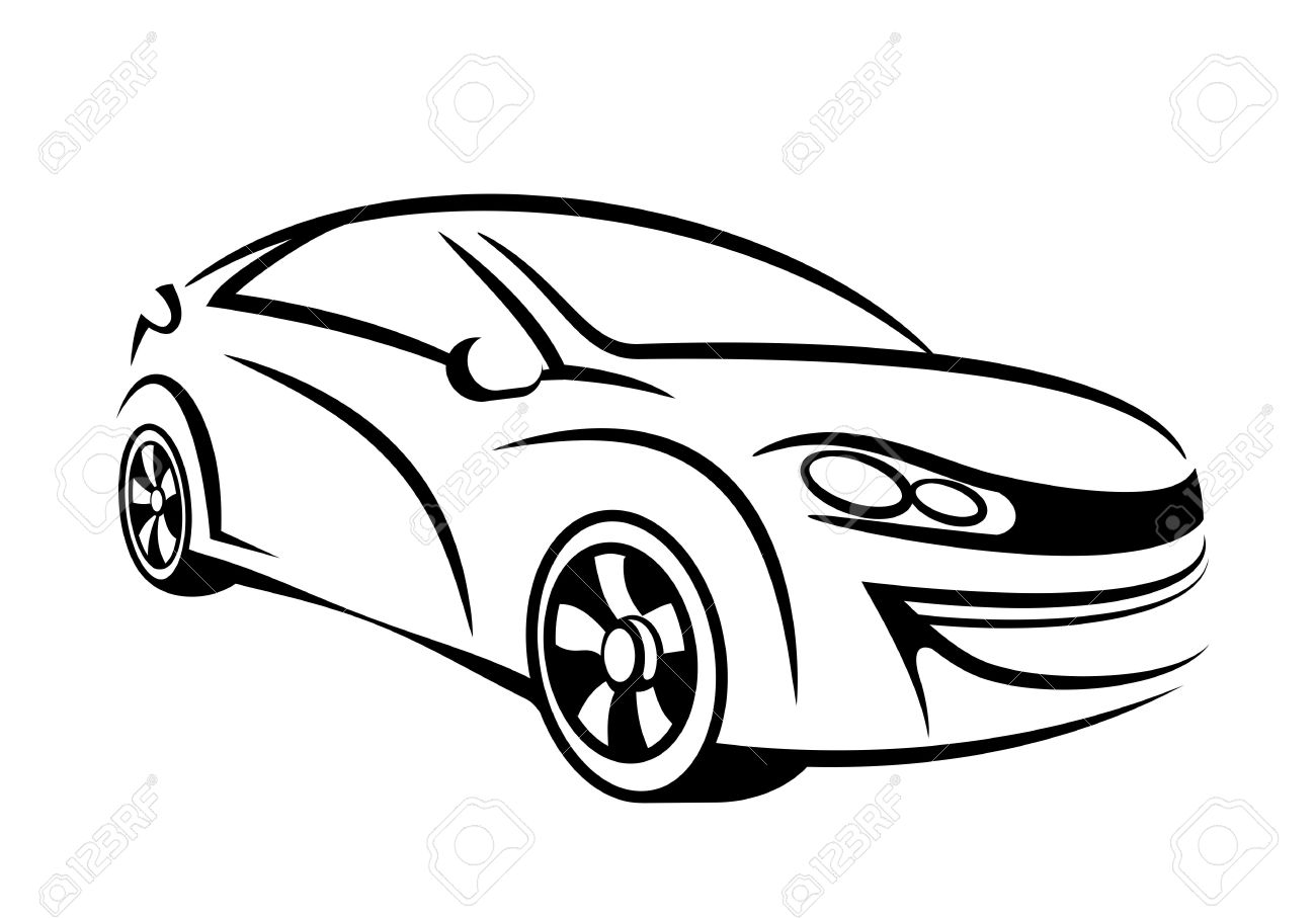 1300x907 Automotive Drawing For Free Download