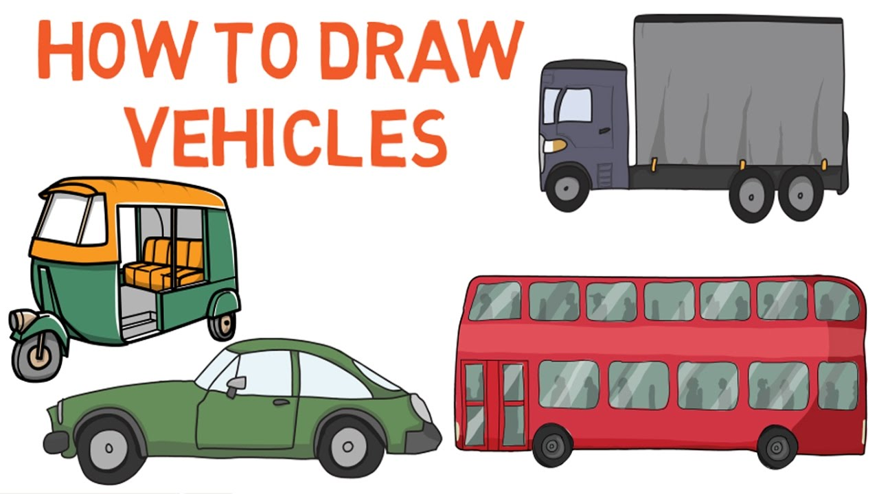 1280x720 How To Draw Vehicles For Kids