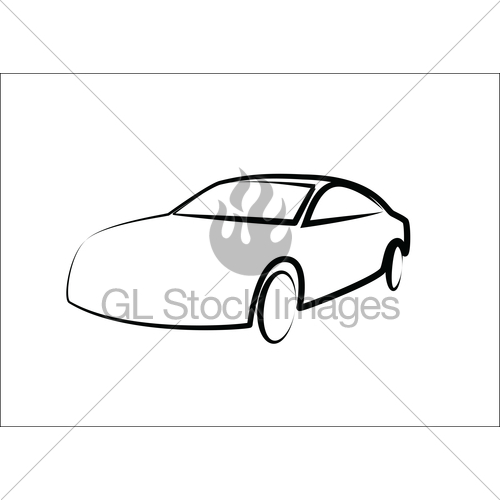 500x500 Modern Car Silhouette Automobile Illustration Gl Stock Images
