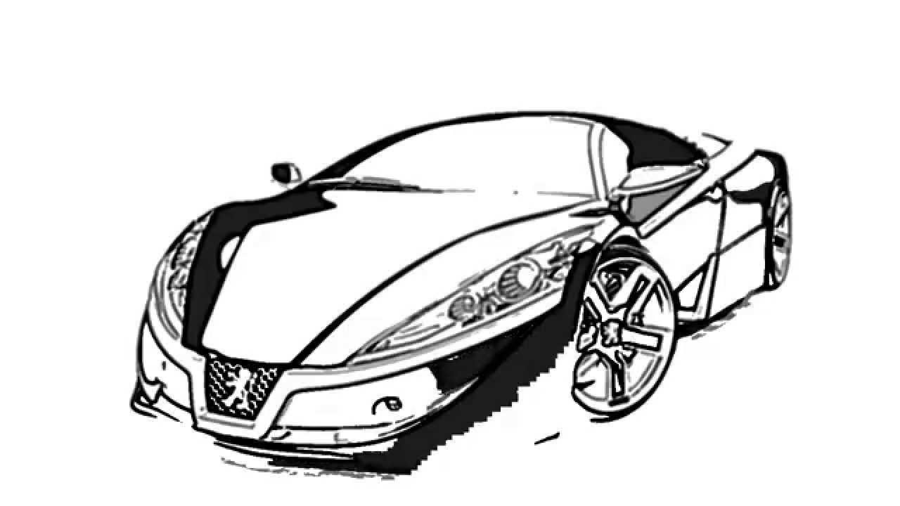 1280x720 How To Sketch Or Draw A Stylish Luxury Car Automobile