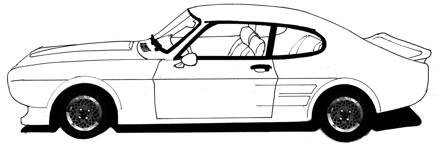 1500x504 Black And White Car Drawings Image Group