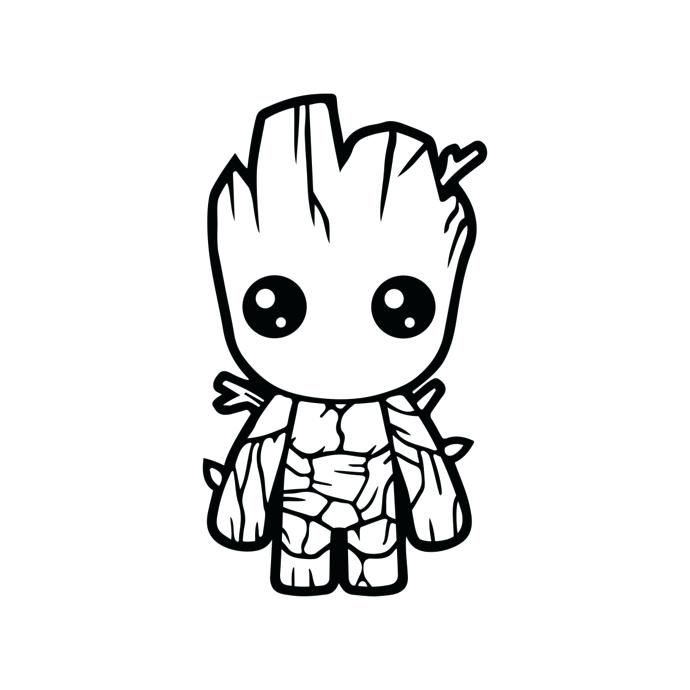 690x690 Chibi Avengers Coloring Pages