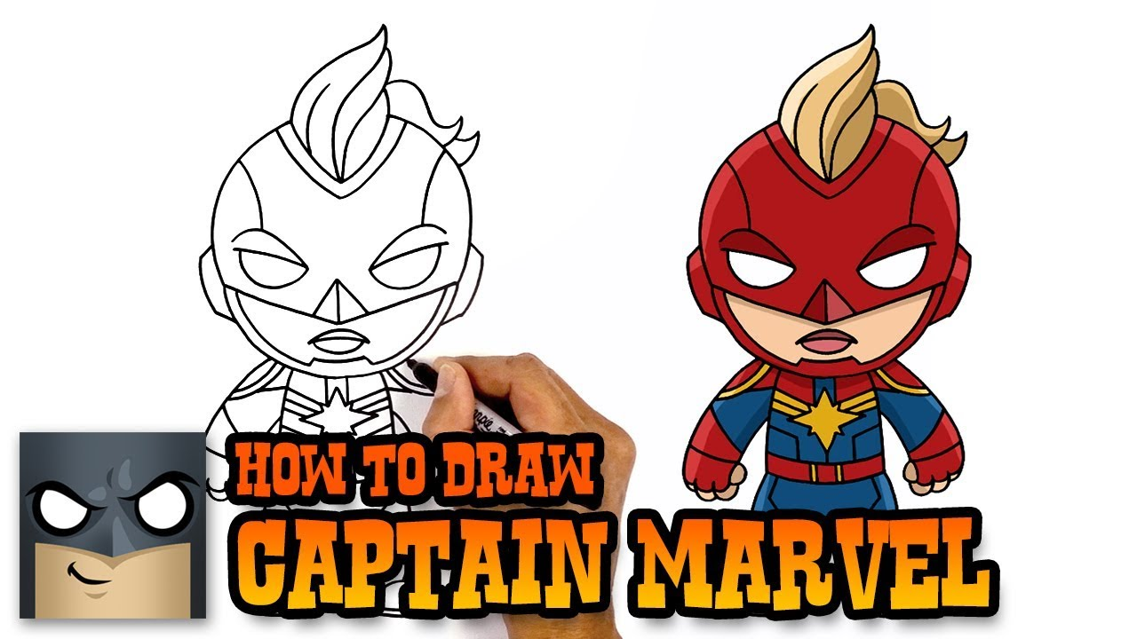1280x720 How To Draw Captain Marvel The Avengers Step