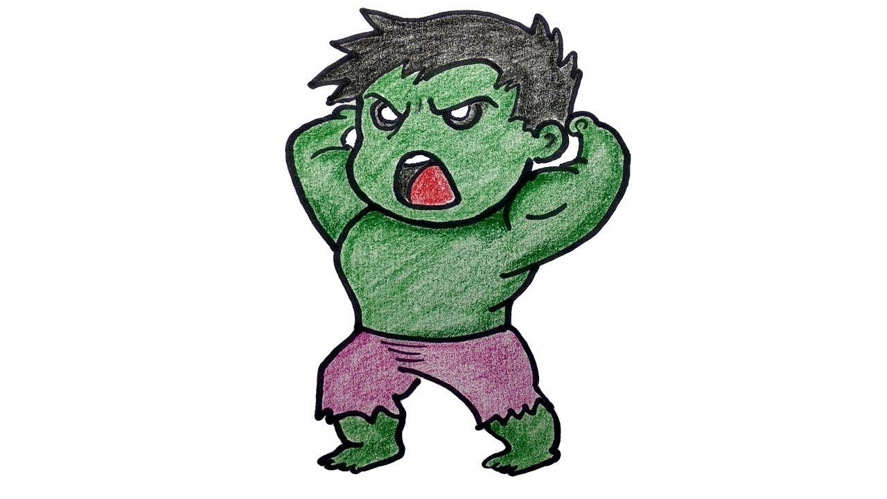 1280x720 How To Draw Hulk The Avengers Cartoon Drawing Step