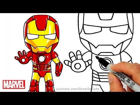 480x360 How To Draw Iron Man Step