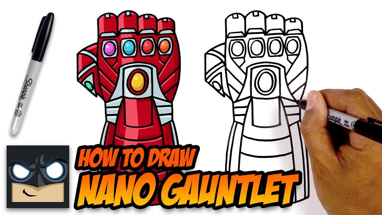 1280x720 How To Draw Nano Gauntlet The Avengers