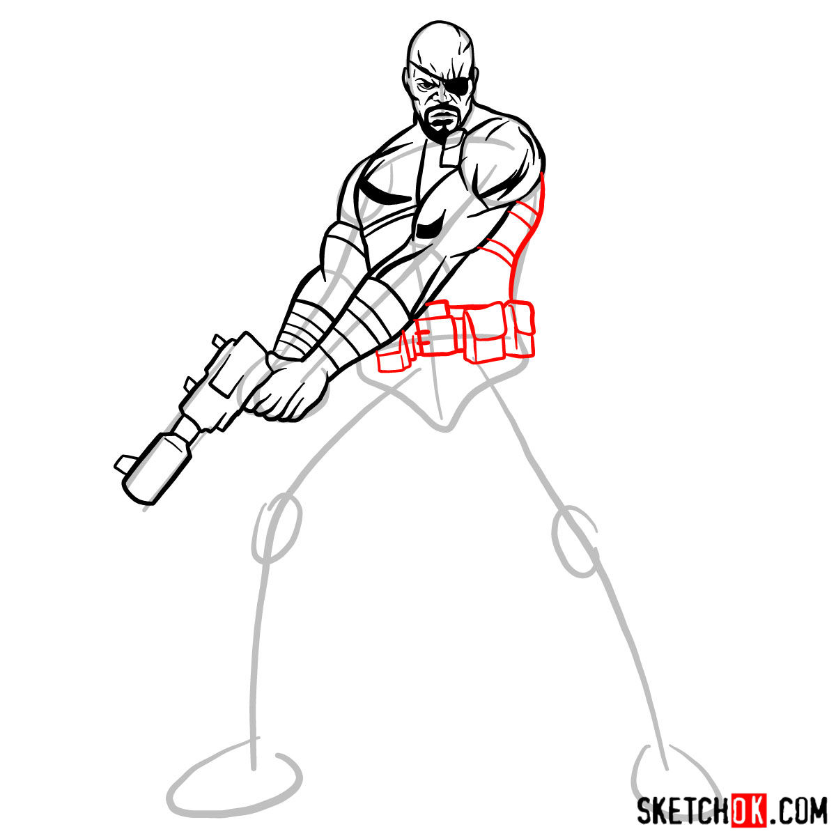 1200x1200 How To Draw Nick Fury From The Avengers