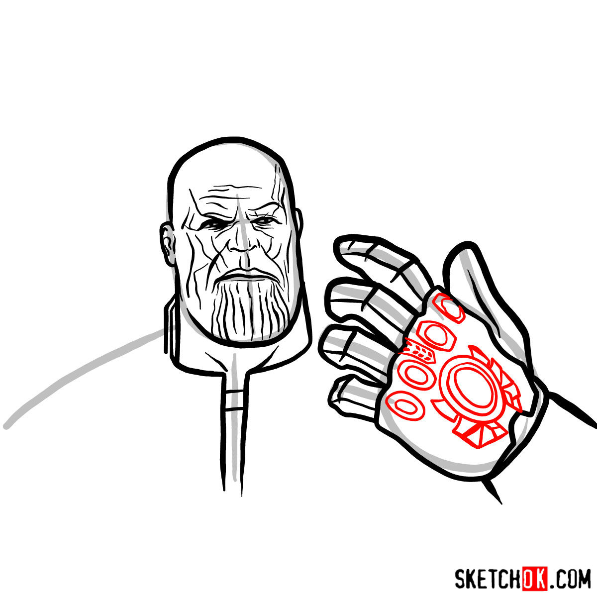 1200x1200 How To Draw Thanos From The Avengers Infinity War Film
