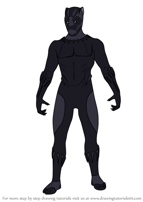 565x800 Learn How To Draw Black Panther From Avengers