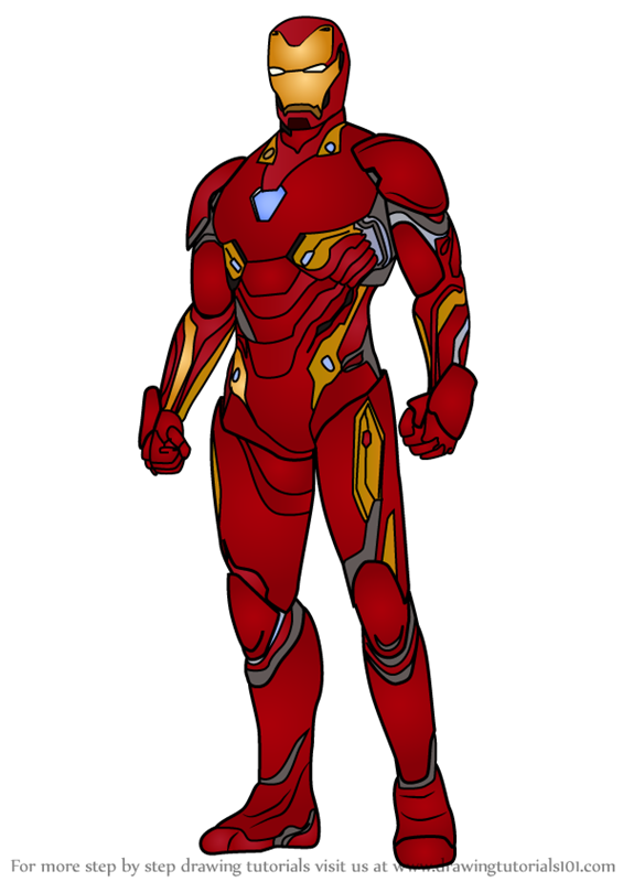 565x800 Learn How To Draw Iron Man From Avengers