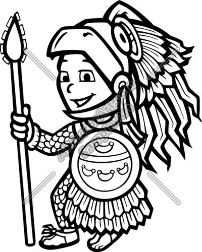 Aztec Calendar Drawing