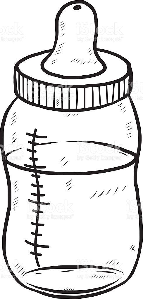 489x1024 Feeding Bottle Clipart Black And White