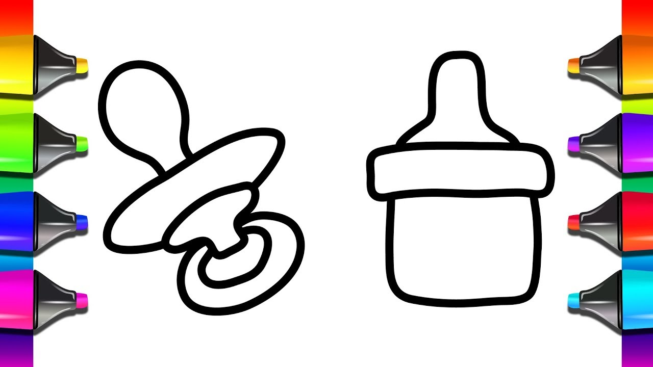1280x720 How To Draw A Baby Bottle