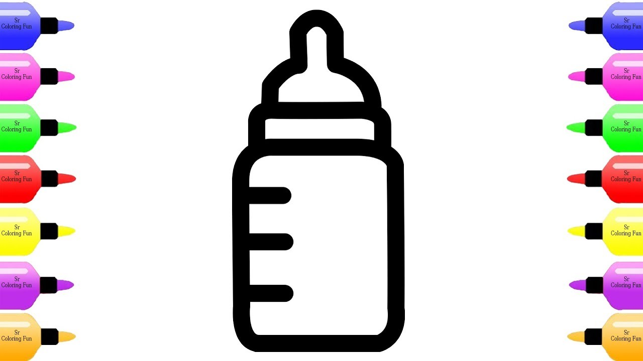 1280x720 how to draw baby bottle and baby bottle coloring