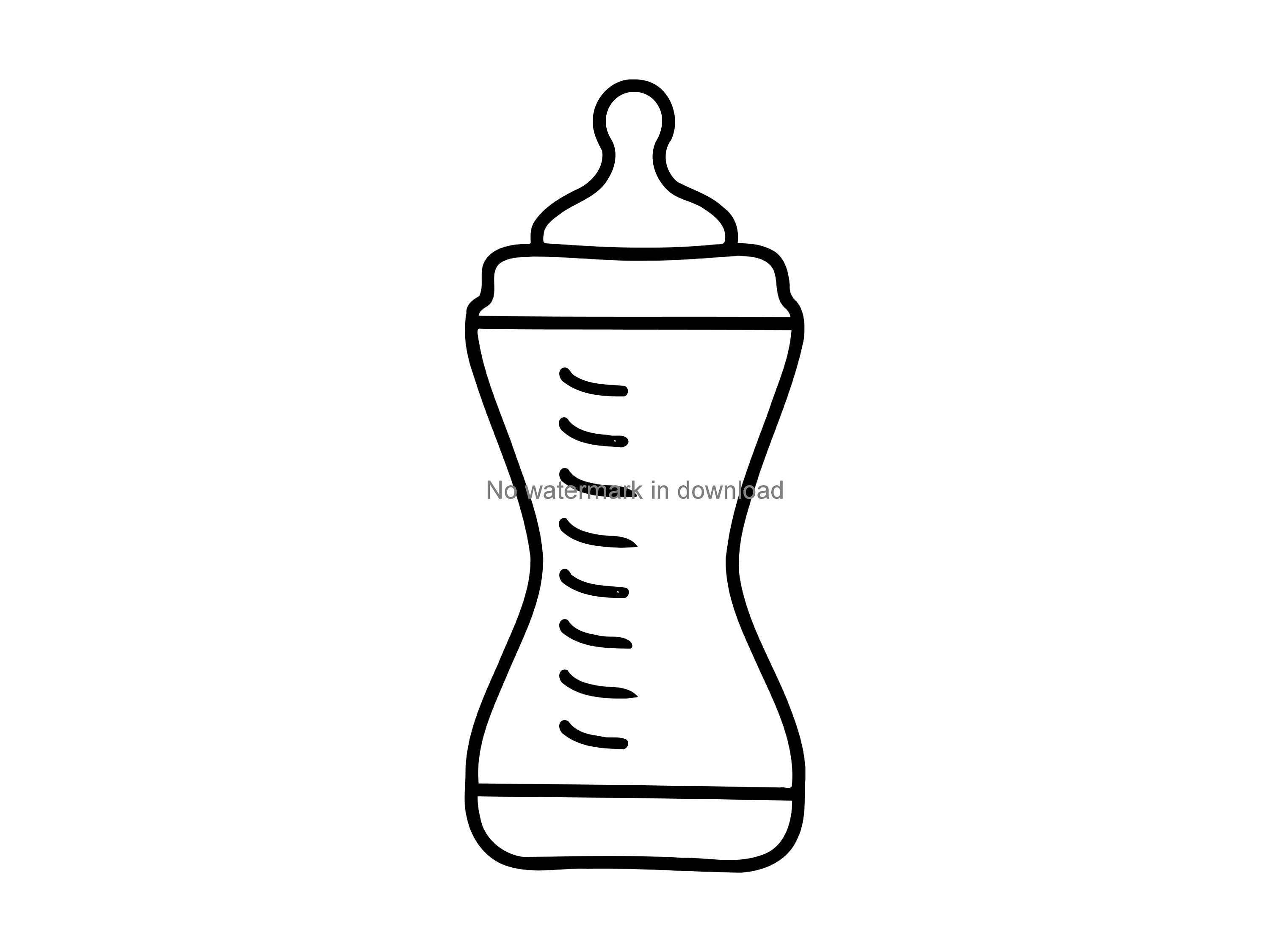 3000x2250 baby bottle vector baby bottle for silhouette baby etsy