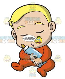 247x300 a baby boy falling asleep while sitting down clipart cartoons