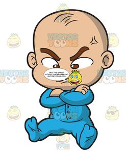 247x300 An Angry Baby Boy Clipart Cartoons